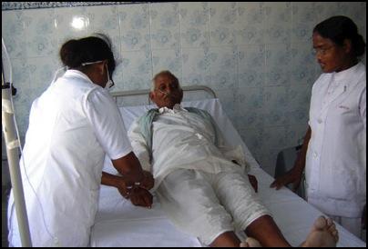 Patient at Jagadguru Kripalu Charity Hospital